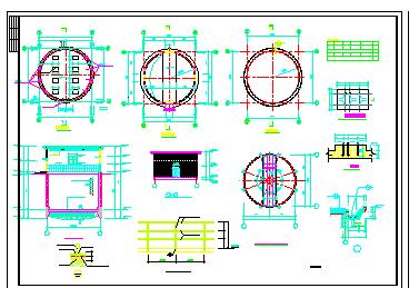 某地全套集水井结构水利工程设计cad图纸-图二