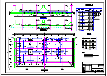 某1000方矩形清水池全套cad设计图纸-图二