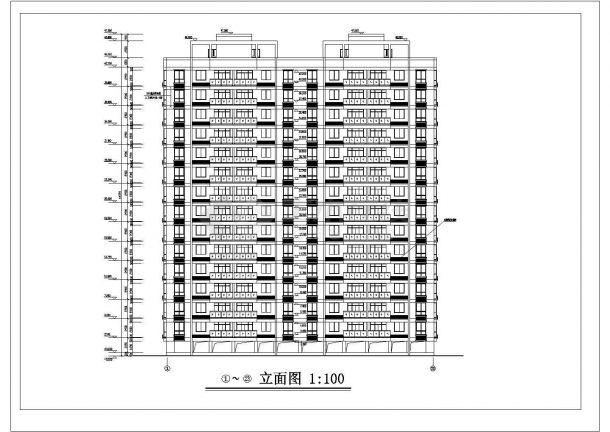 南宁市某社区6830平米14层框架结构住宅楼建筑设计CAD图纸(含架空层)-图一