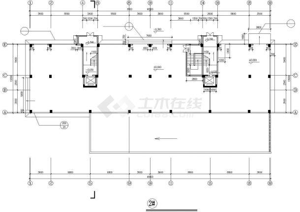 烟台市西苑小区8层框混结构住宅楼建筑设计CAD图纸(含闷顶层和架空层)-图一