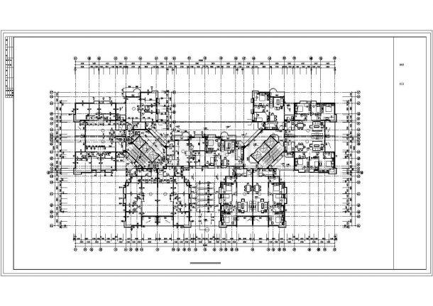 上海市某小区33层剪力墙结构住宅楼平面设计CAD图纸(含机房水箱层)-图二