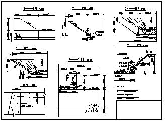 某水利跌水工程设计cad施工图纸-图一