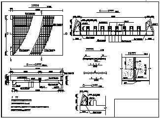 某水利跌水工程设计cad施工图纸-图二