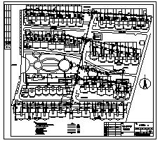 采暖外线暖设计_某群芳园采一期住宅小区采暖外线暖施工cad图纸-图一