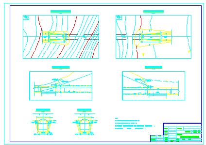 某灌溉输水隧洞设计cad施工图纸-图一