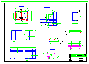 某渡槽工程设计cad施工图纸-图一