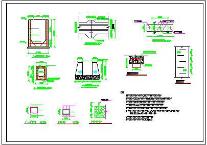 某水库穿坝涵洞设计cad施工图纸-图二