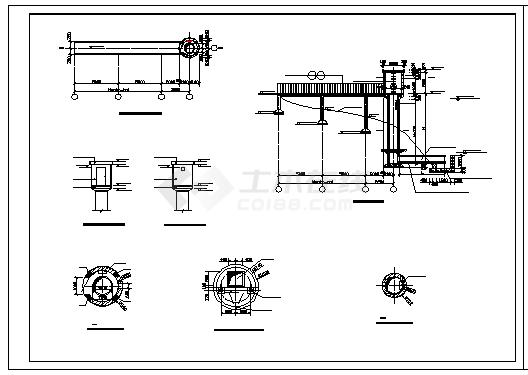 某水利工程水位测井设计cad施工图纸-图一