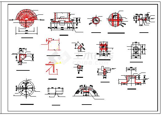 某水利工程水位测井设计cad施工图纸-图二