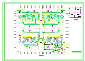 [江西]大型商办楼防空地下室通风及防排烟系统设计施工全图(含人防设计)-图一