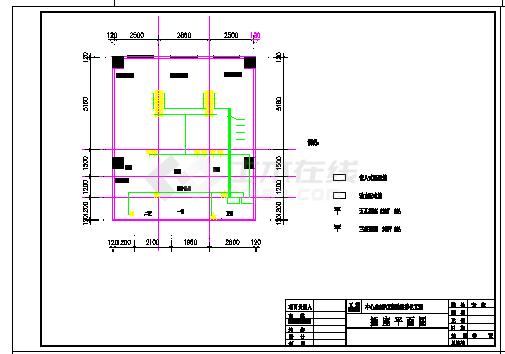 某大学PCR实验室暖通空调施工cad设计图-图一