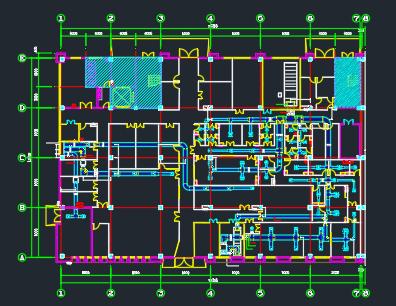 5000平方制药厂洁净工程暖通、消防全套设计施工图-图一