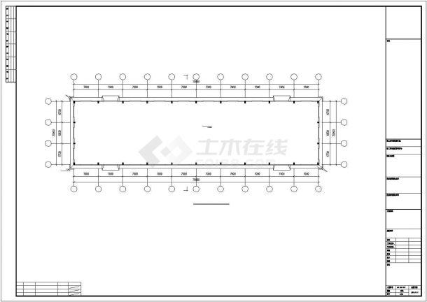 乌鲁木齐市某大型稀土开采场单层钢结构厂房全套建筑结构设计CAD图纸-图二