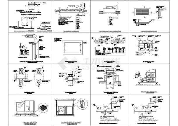 经典cad暖通安装详图集合-图二