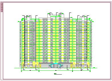 哈尔滨某房地产开发公司开发休息小区住宅楼建筑设计cad施工图-图一