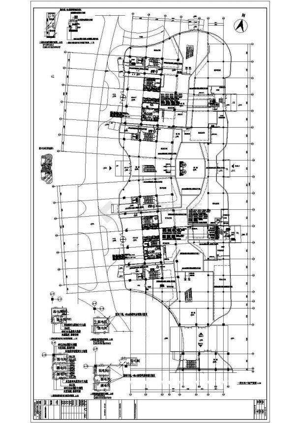 江苏省某地高层办公楼电气施工CAD图纸-图一