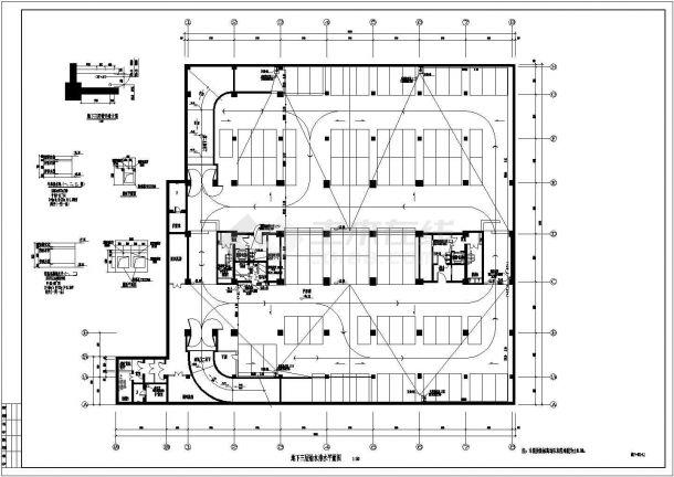 南方某高层办公楼建筑给排水施工图-图一