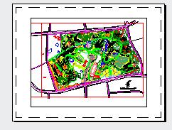 四川某县城公园景观设计cad全套施工图-图一