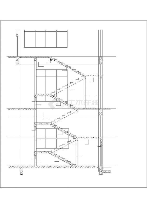 南昌市漳平路某临街4层框架结构商业楼全套结构设计CAD图纸-图一