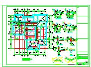 两层框架结构别墅结构加固改造设计施工图-图一