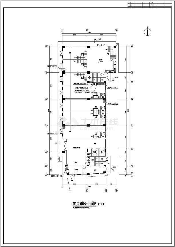 [广东]高层综合楼通风及防排烟系统设计全套施工图(气体灭火系统)-图二