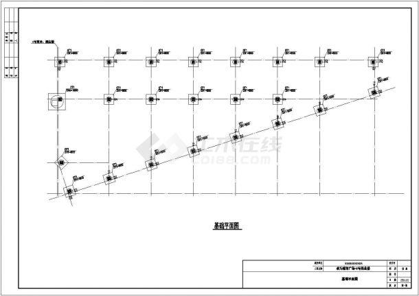 绍兴市人民西路某四层框架结构商业楼全套结构设计CAD图纸-图一
