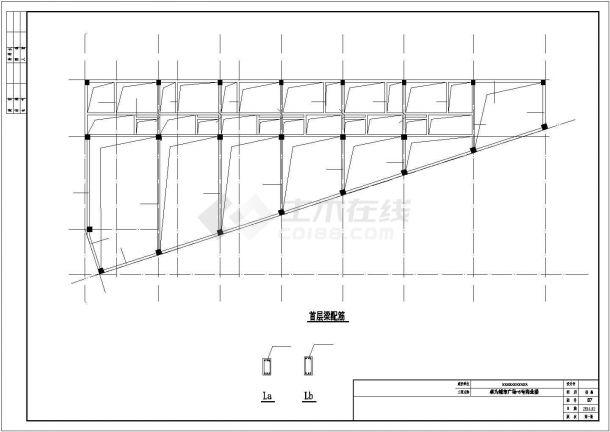 绍兴市人民西路某四层框架结构商业楼全套结构设计CAD图纸-图二