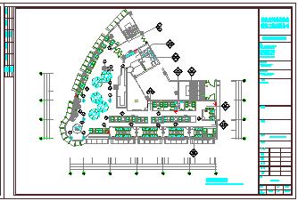 上岛咖啡沙县店室内装饰工程cad设计图纸-图一