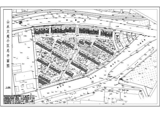 40230平米小区景观规划设计图-图一
