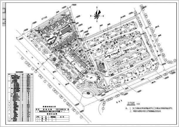 某城市新开发区新建多层住宅小区规划设计cad总平面施工图(含主要技术经济指标)-图一