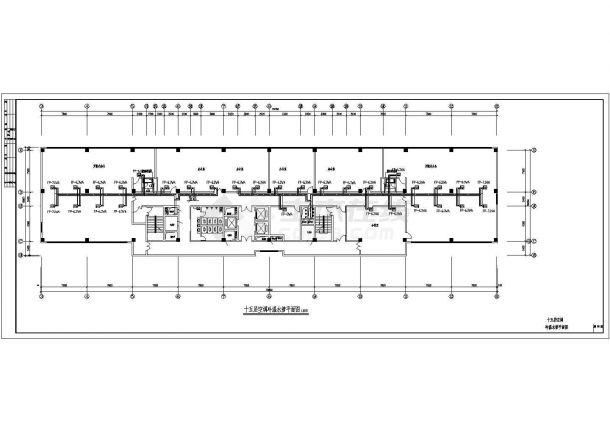 [山东]某国际商业大厦全套空调通风防排烟系统设计施工图(含机房设计)-图一