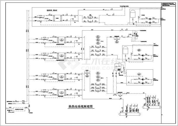 [山东]某商业综合体暖通空调全套系统扩初设计图(动力系统 机房设计)-图一