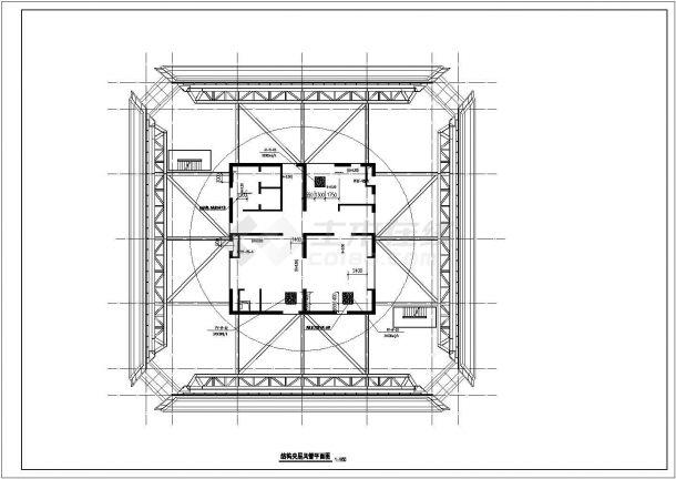 [上海]40层商业中央广场空调通风防排烟系统设计全套cad施工图(平面图全面)-图二