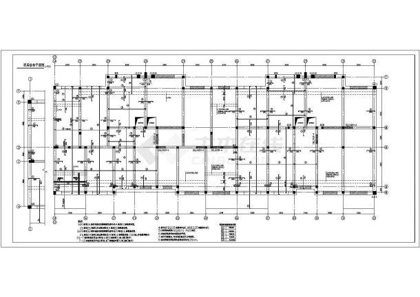 欧式住宅楼底框结构建筑CAD图-图一