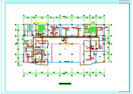 [安徽]高层医疗保健综合建筑空调通风及防排烟系统cad图纸-图二