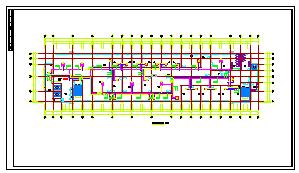 [安徽]医院综合楼空调通风及防排烟系统cad施工图(含节能环保设计)-图一