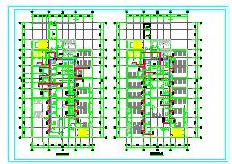 [河南]医院多层综合病房楼空调通风及防排烟系统cad施工图-图二