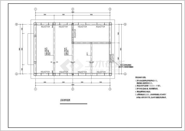 某地上一层钢筋混凝土结构锅炉房设计cad详细结构施工图(含设计说明)-图一