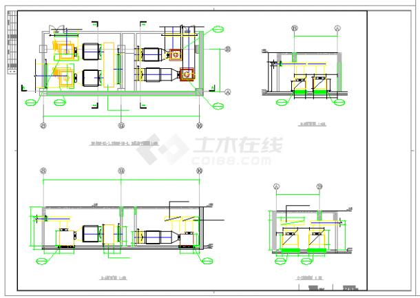 [安徽]高层医院工程病房楼空调通风防排烟系统cad施工图(大院作品新设计)-图一
