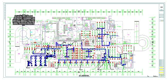 [山西]高层医疗综合楼空调通风防排烟系统cad施工图(含采暖设计)-图一