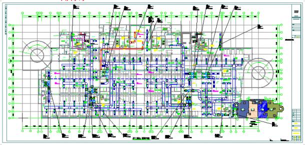 [山西]高层医疗综合楼空调通风防排烟系统cad施工图(含采暖设计)-图二