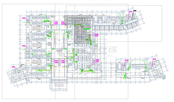 [浙江]高层医院建空调通风及防排烟系统cad施工图(全直流新风系统风冷热泵)-图二