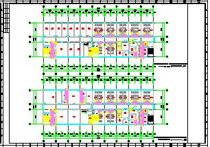 [重庆]医院急诊楼和康复后勤中心空调通风及防排烟系统cad施工图(含节能设计)-图一