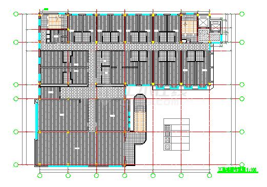 某宾馆室内装饰改造工程cad设计图纸-图二