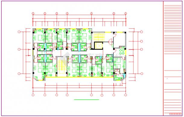 广西某酒店室内装饰工程cad设计施工图-图一