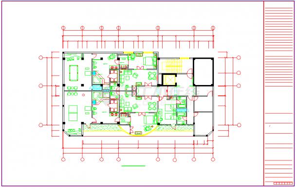 广西某酒店室内装饰工程cad设计施工图-图二