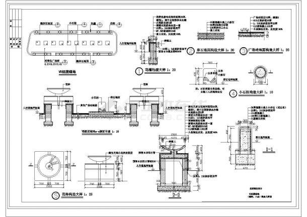 某地方花园绿化建筑设计方案图-图二