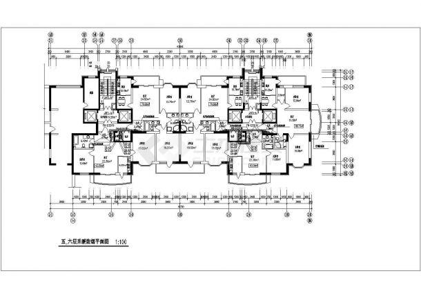 常州某地高层住宅楼采暖通风防烟cad平面施工设计图-图二