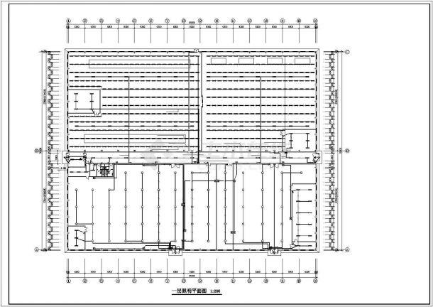 某7277㎡印刷厂房电气施工图设计-图二