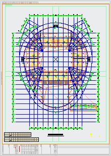 [吉林]6018座钢桁架中央索承网壳组合屋架体育馆建筑结构cad设计图-图一